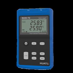 Регистратор температуры термопары Huato S220-T2/S220-T8