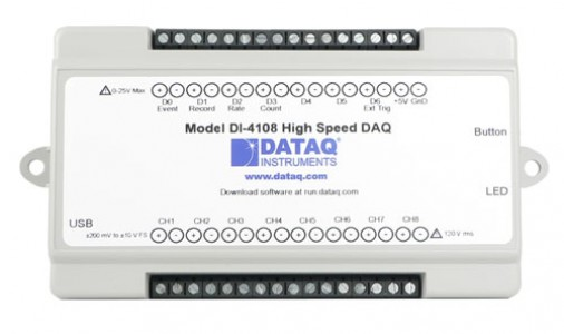 Высокоскоростной многоканальный регистратор напряжения DataQ DI-4108 (расширяемый)