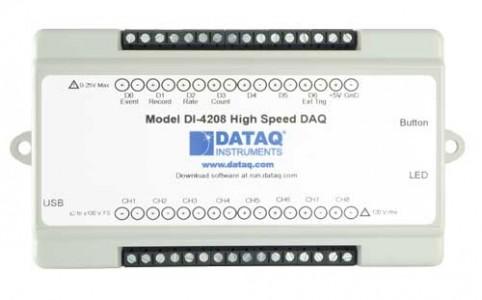 Высокоскоростной многоканальный регистратор напряжения DataQ DI-4208 (расширяемый)