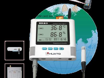 Регистратор температуры и влажности Huato S500 серия GSM