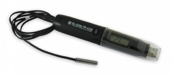 Регистратор данных температуры с выносным датчиком. Термистор EL-USB-TP-LCD