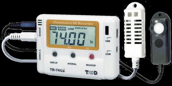 Регистратор УФ излучения, освещенности, температуры и влажности T&D TR-74Ui